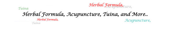 herbal formula, tuina, acupuncture, and more